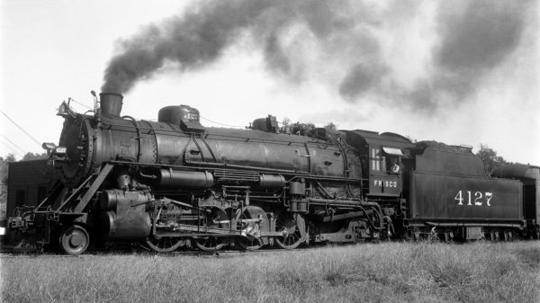 2-8-2 4127 at Rosedale, Kansas on September 8, 1938 (R.B. Graham)
