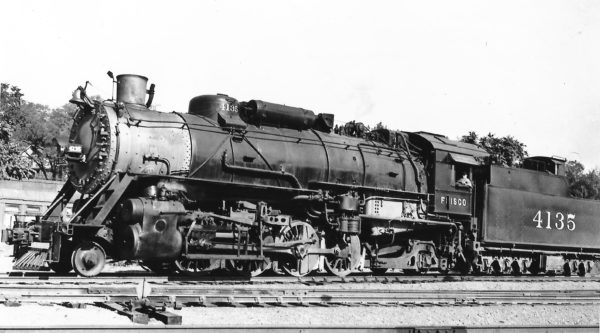 2-8-2 4135 at Kansas City, Missouri on September 19, 1939 (Arthur B. Johnson)