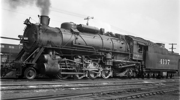 2-8-2 4137 at St. Louis, Missouri in 1939 (J. Bowie)