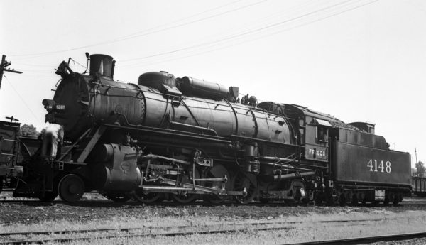 2-8-2 4148 at St. Louis, Missouri in 1937 (J. Bowie)