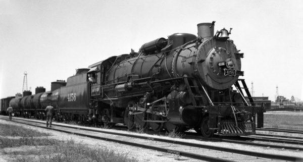 2-8-2 4156 at Oklahoma City, Oklahoma on July 10, 1939 (J.B. Fink)