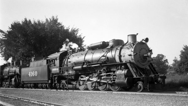 2-8-2 4160 at Neosho, Missouri on September 10, 1944 (R. Collins)