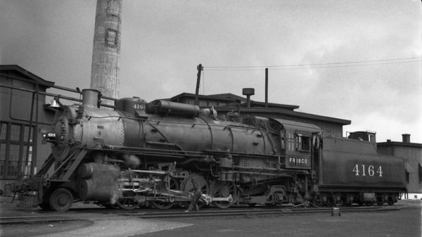2-8-2 4164 at Tulsa, Oklahoma on May 4, 1937 (J.T. Boyd)