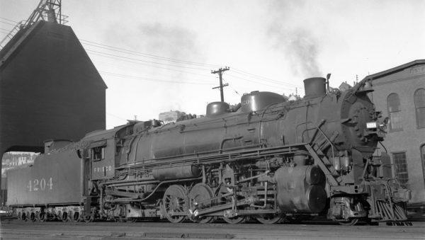 2-8-2 4204 at Kansas City, Missouri on July 10, 1937 (J.T. Boyd)