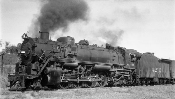 2-8-2 4212 at Rosedale, Kansas in October 1939 (J.T. Boyd)