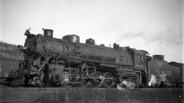 2-8-2 4215 at Kansas City, Kansas on December 17, 1935 (J.T. Boyd)