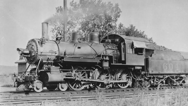 4-6-0 604 at Fayetteville, Arkansas in May 1936 (Arthur B. Johnson)