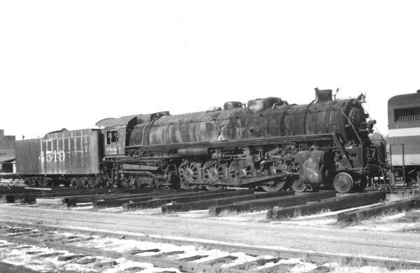 4-8-4 4519 at Springfield, Missouri on December 24, 1961 (Arthur B. Johnson)