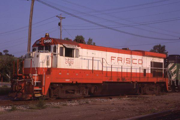 B30-7 5490 (Frisco 868) at Council Bluffs, Iowa on July 30, 1982 (J.C. Benson)