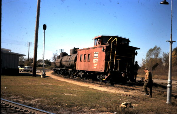 Caboose 1147 at Sapulpa, OK (date unknown)