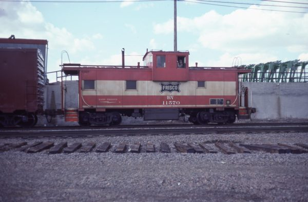Caboose 11570 (Frisco 1242) at Minneapolis, Minnesota on April 17, 1982