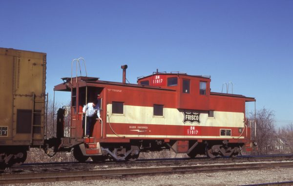 Caboose 11617 (Frisco 1289) at Springfield, Missouri on January 17, 1981 (J.C. Benson)