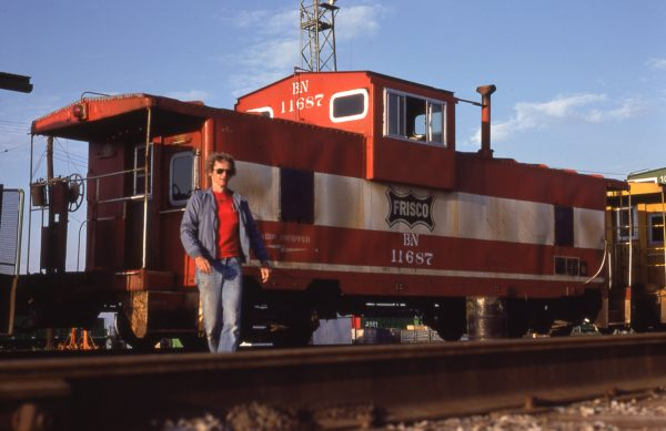 Caboose 11687 (Frisco 1712) at Springfield, Missouri in October 1983
