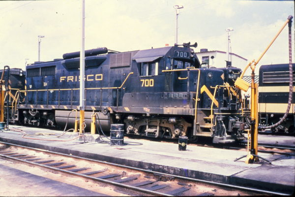 GP35 700 at Memphis, Tennessee in September 1965 (Rail Junction Slides)