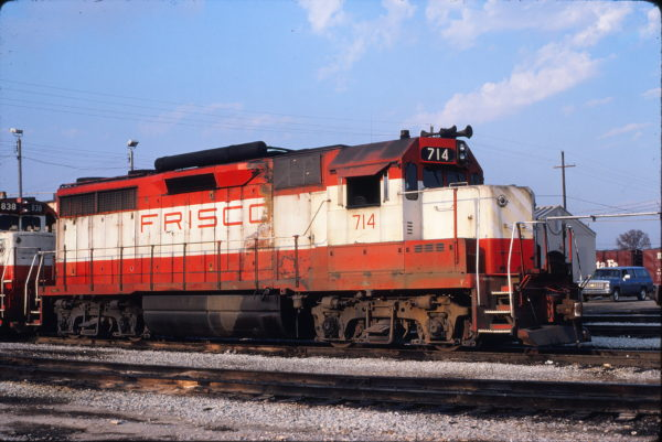 GP35 714 at Memphis, Tennessee on December 6, 1980 (David Johnston)