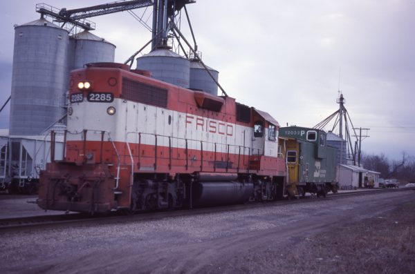 GP38-2 2285 (Frisco 430) at McBride, Missouri in February 1983
