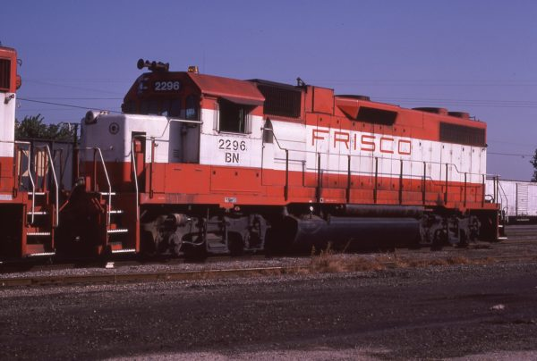 GP38-2 2296 (Frisco 441) at Fort Scott, Kansas on August 3, 1982 (Paul Wester)