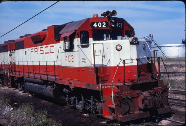 GP38-2 402 at Fort Worth, Texas on November 30, 1980