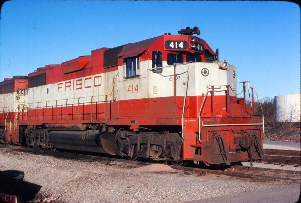 GP38-2 414 at Springfield, Missouri in November 1977 (Mike Sosalla)