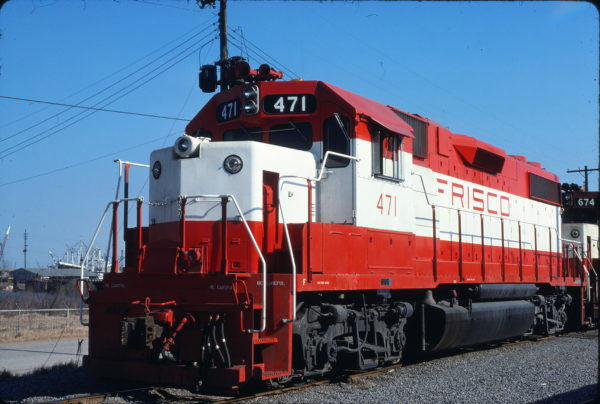 GP38-2 471 at Mobile, Alabama on February 15, 1977 (G.E. Lloyd)