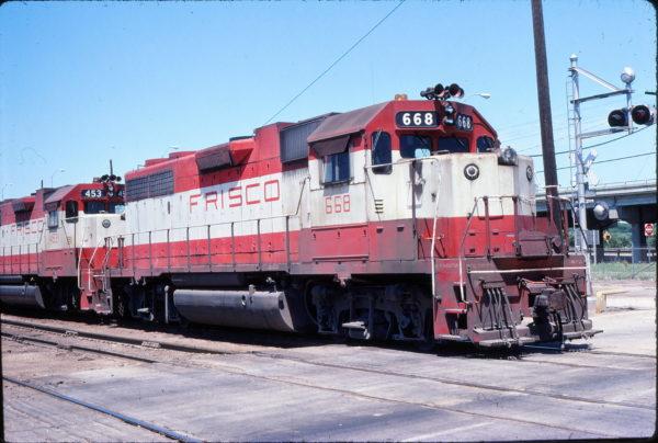 GP38-2 668 at Tulsa, Oklahoma on May 29, 1978