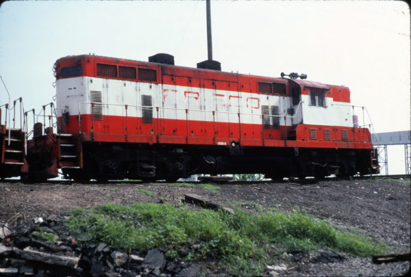 GP7 584 at Philadelphia, PA. in August 1982 (John Mech)