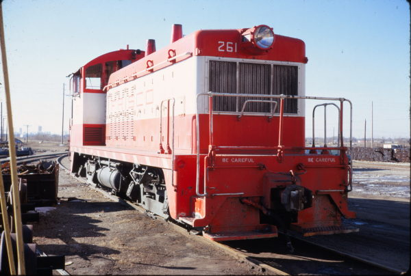 NW2 261 at Wichita, Kansas on February 10, 1973 (Allan Ramsey)
