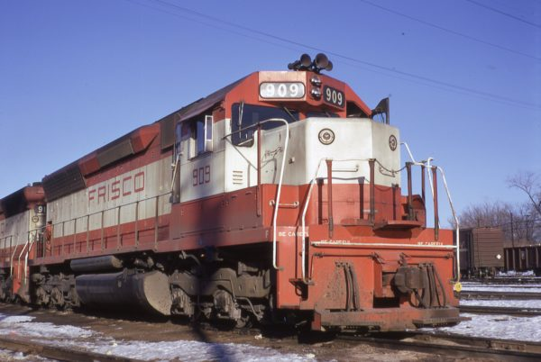 SD45 909 at St. Louis, Missouri in January 1970 (J.W. Stubblefield)