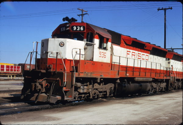 SD45 936 at Kansas City, Missouri on March 30, 1975 (James Primm)