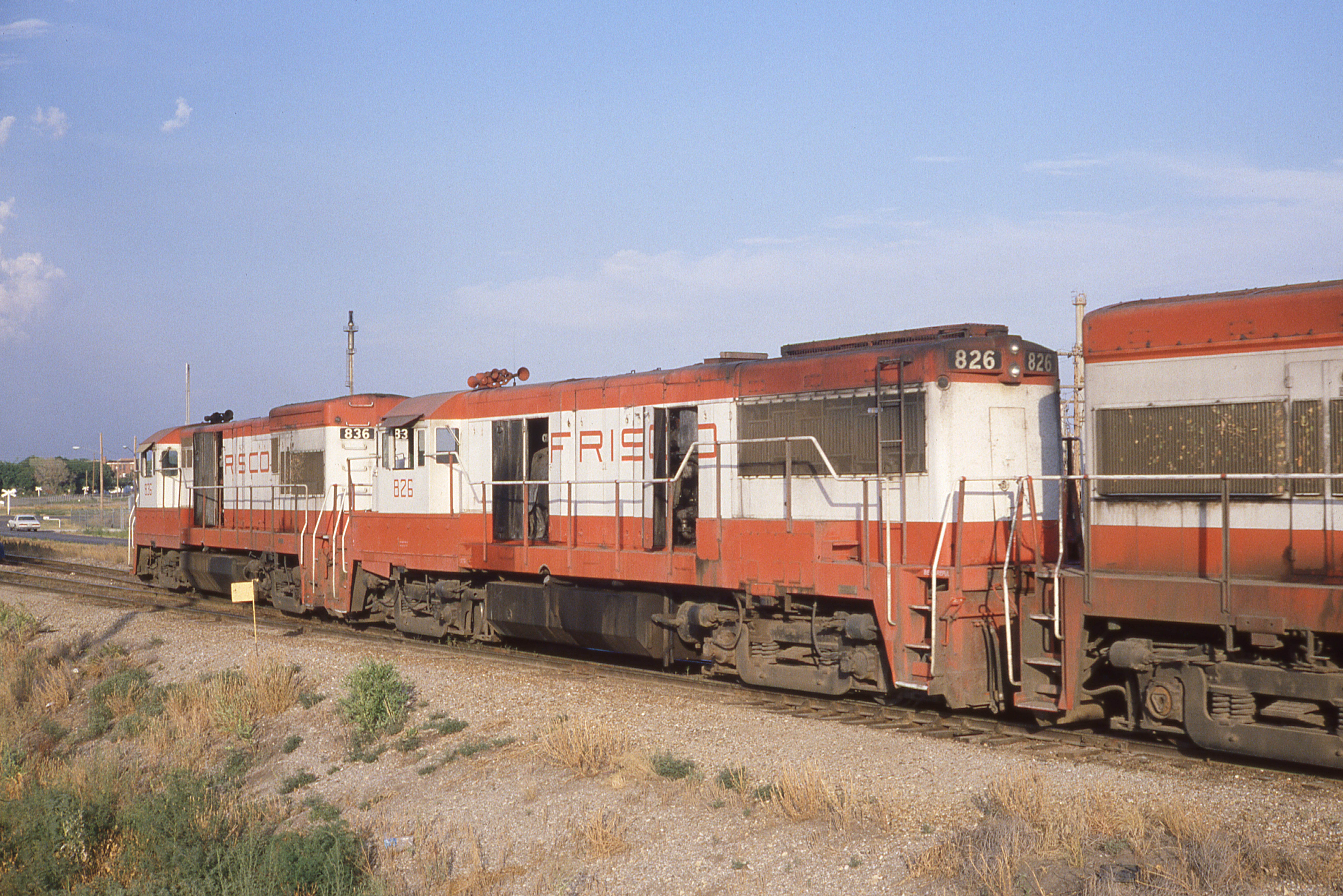 U30B 836 and U25B 826 at Augusta, Kansas on August 2, 1980