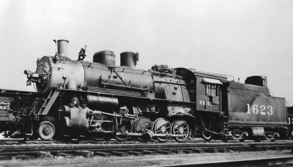 2-10-0 1623 at Tulsa, Oklahoma in August 1946 (Arthur B. Johnson)