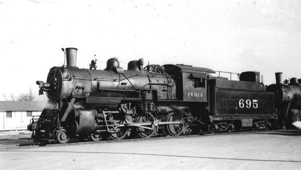 4-6-0 695 at Enid, Oklahoma on December 25, 1946