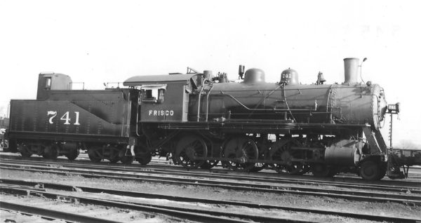 4-6-0 741 at Tulsa, Oklahoma on March 8, 1947 (Arthur B. Johnson)