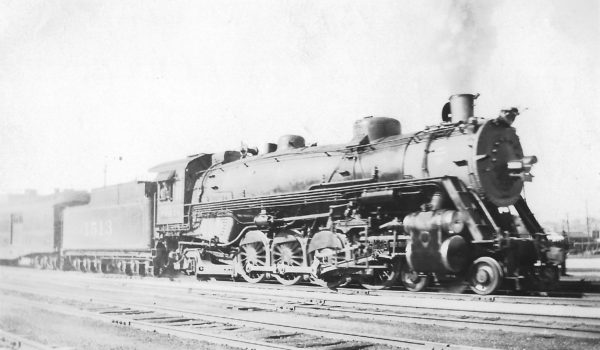 4-8-2 1513 on Train #4 leaving Union Station, Tulsa, Oklahoma on January 17, 1932