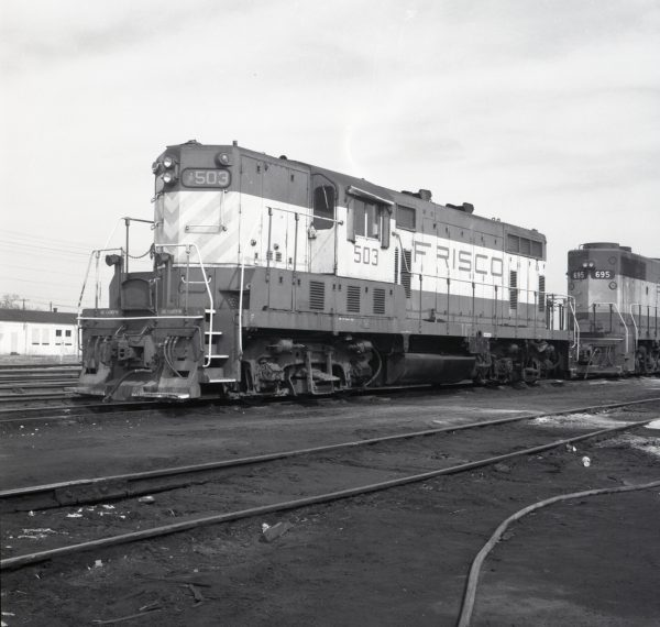 GP7 503 at Monett, Missouri on March 4, 1974