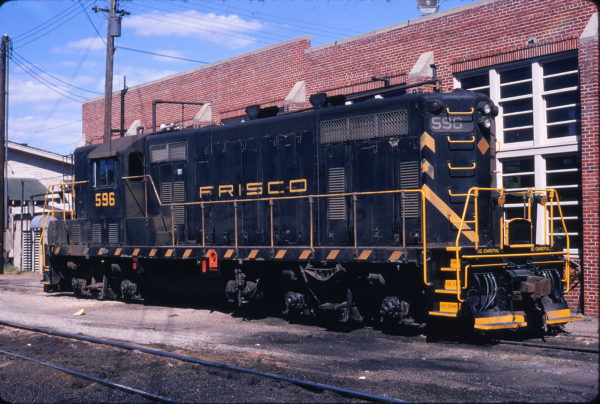 GP7 596 (location unknown) in July 1970 (Keith Ardinger)