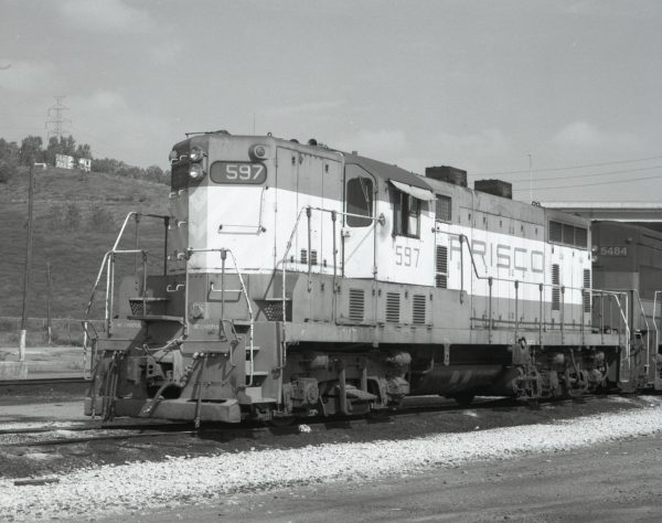 GP7 597 at Omaha, Nebraska on August 30, 1979