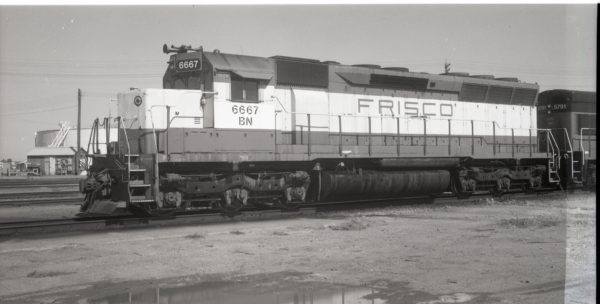 SD45 6667 (Frisco 918) at Lincoln, Nebraska on October 6, 1981