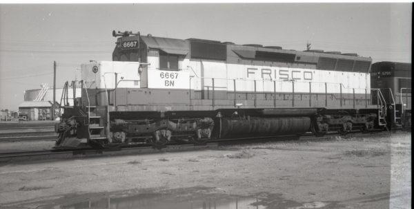 SD45 6667 (Frisco 918) at Lincoln, Nebraska on October 6, 1981