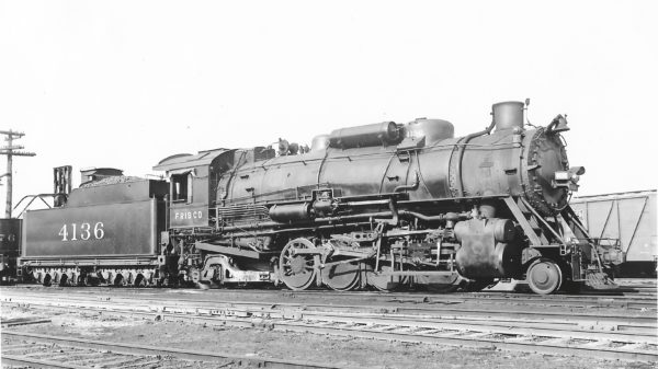 2-8-2 4136 at St. Louis, Missouri on May 21, 1939 (Arthur B. Johnson)