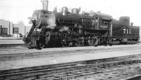 4-6-0 711 at Tulsa, Oklahoma on June 15, 1947 (Arthur B. Johnson)