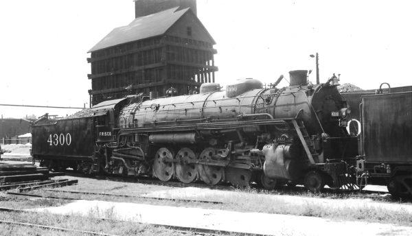 4-8-2 4300 at Fort Scott, Kansas on July 17, 1949 (Arthur B. Johnson)
