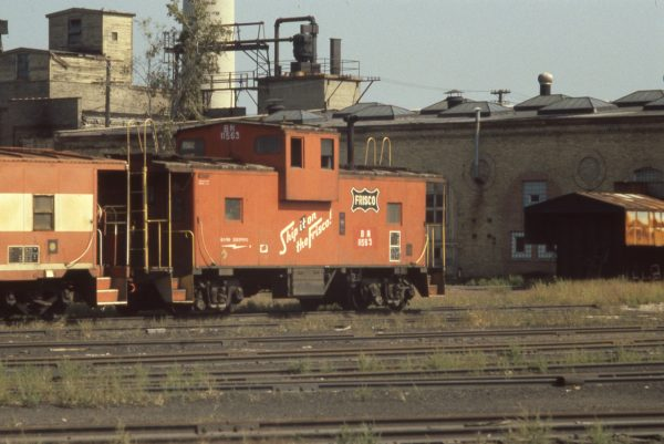 Caboose 11563 (Frisco 1235) at St. Paul, Minnesota in September 1981