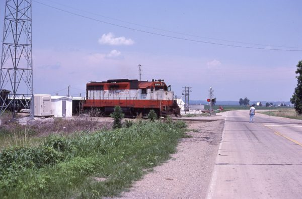 GP35 2561 (Frisco 711) at McBride, Missouri in July 1982 (Camille Chappuis)