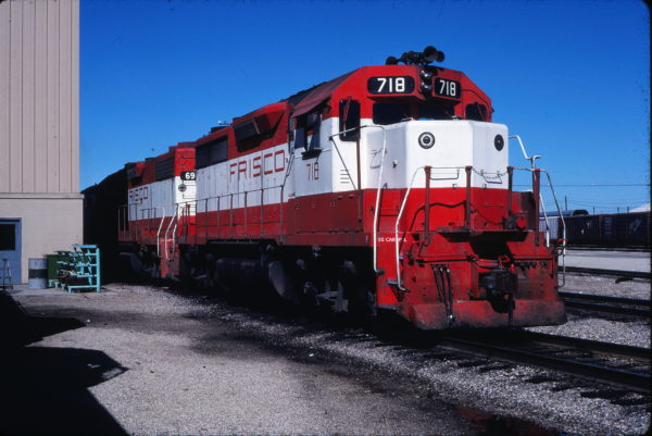 GP35 718 at Tulsa, Oklahoma on October 25, 1980 (Gene Gant)