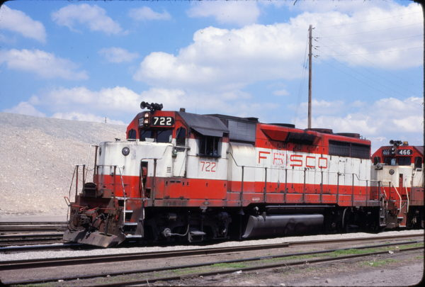 GP35 722 at Kansas City, Kansas on April 18, 1980 (John Benson)
