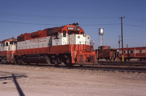 GP38-2 2320 (Frisco 465) at Springfield, Missouri on April 27, 1981
