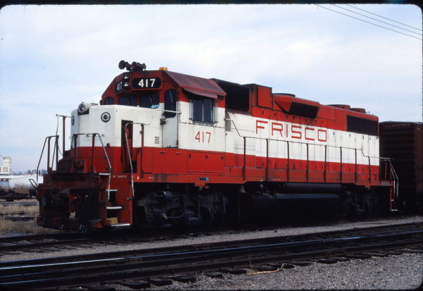 GP38-2 417 at Enid, Oklahoma on January 1, 1981 (Gene Gant)