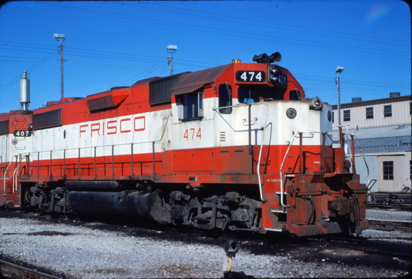 GP38-2 474 at Memphis, Tennessee in March 1981 (Steve Forrest)