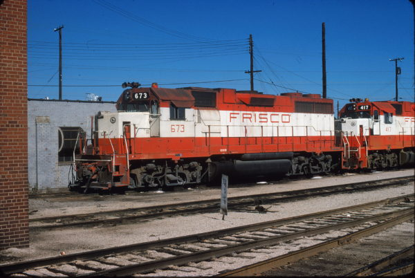 GP38-2 673 at St. Louis, Missouri in October 1974 (J.W. Stubblefield)